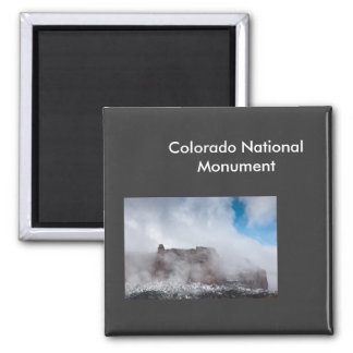 Storm over het Nationale Monument van Colorado Magneet
