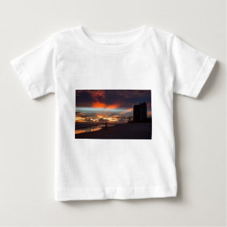 Stormachtige Zonsondergang Baby T Shirts