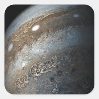 Stormen op Jupiter van Nok Juno (2017) Vierkante Sticker