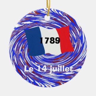 Stormend Bastille, 14 Juli 1789 Rond Keramisch Ornament