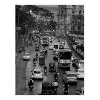 Straat B&W Mumbai Briefkaart