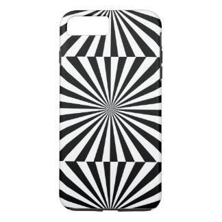 STRALEN transparante (een zwart & wit ontwerp) ~ iPhone 8/7 Plus Hoesje