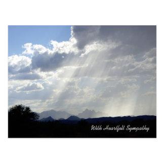 Stralen van het Briefkaart van de Sympathie van de