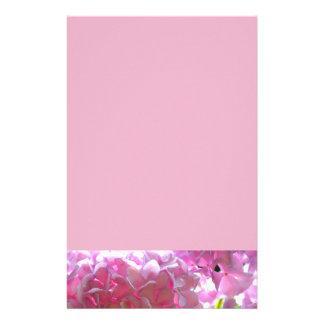 Stralende Roze Hydrangea hortensia's Briefpapier
