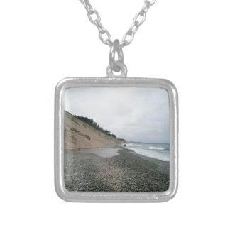 Strand 2 van het agaat zilver vergulden ketting