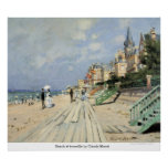 Strand bij trouville door Claude Monet Posters