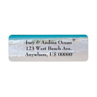 Strand en het OceaanAdresetiket van de Terugkeer Etiket