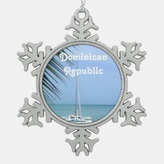 Strand in de Dominicaan Tin Sneeuwvlok Ornament