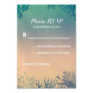 strand onderwater blauwgroen en blauw huwelijk 8,9x12,7 uitnodiging kaart