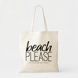 Strand tevreden draagtas