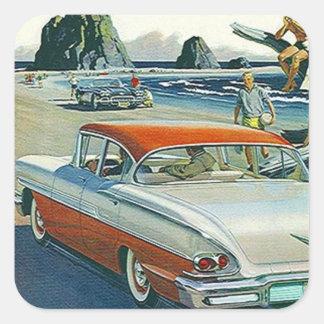 Strand van de Vintage Auto van de sticker het Auto