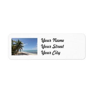 Strand van het Paradijs van Saona van Isla het Etiket