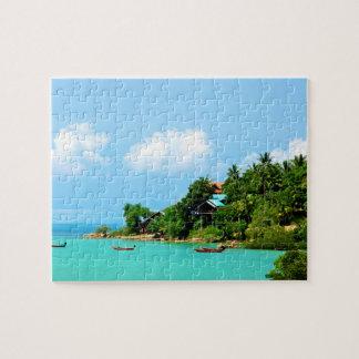 Strand van Koh Phangan Thailand Puzzel