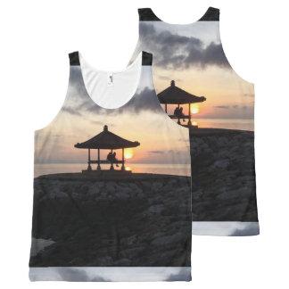 Strand voor een Zonsopgang van Bali All-Over-Print Tank Top