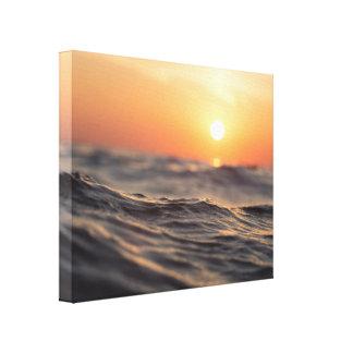 Strand-zee Canvas Afdruk