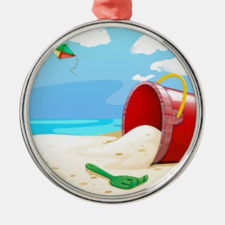 Strand Zilverkleurig Rond Ornament