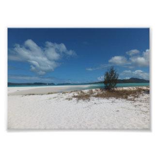 Stranden en Blauwe hemelen Foto Afdruk