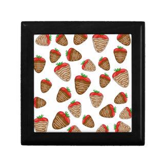 Strawberies van de chocolade decoratiedoosje