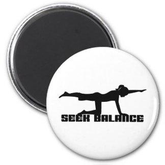 Streef naar de Yoga van het Saldo Ronde Magneet 5,7 Cm