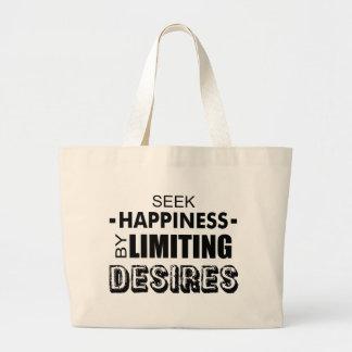 Streef naar Geluk door Wensen Te beperken Grote Draagtas