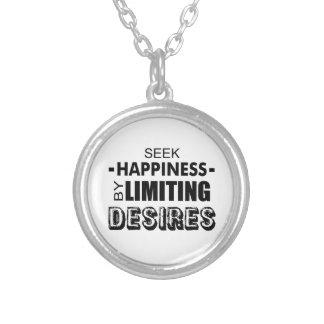 Streef naar Geluk door Wensen Te beperken Zilver Vergulden Ketting