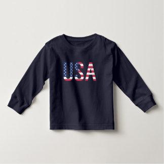 Streep van de Ster van de Tekst van de Vlag van de Kinder Shirts