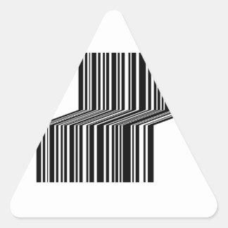 Streepjescode als een bank gestalte die wordt driehoek sticker