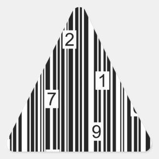 Streepjescode Driehoek Stickers