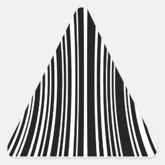 Streepjescode Driehoekvormige Sticker