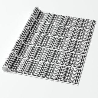 streepjescode exemplaar inpakpapier
