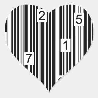 Streepjescode Hart Sticker