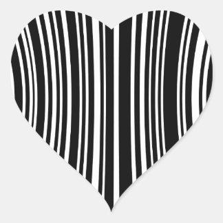 Streepjescode Hartvormige Sticker
