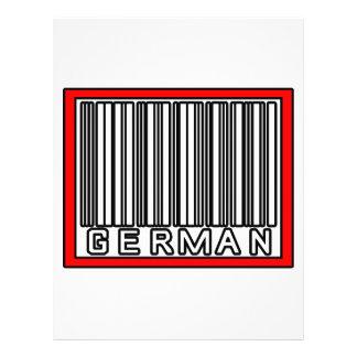 Streepjescode het Duits Folder