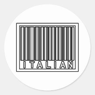 Streepjescode het Italiaans Ronde Sticker