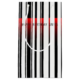 streepjescode met de zak van de laserscanner klein cadeauzakje
