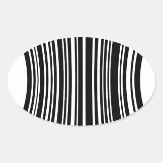 Streepjescode Ovaalvormige Sticker