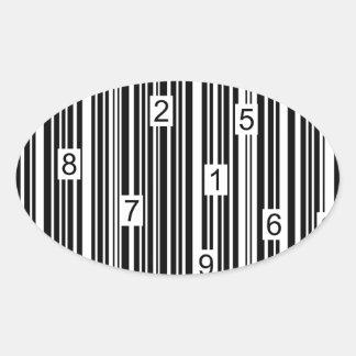 Streepjescode Ovaalvormige Stickers