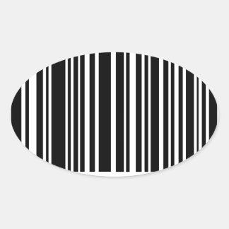 streepjescode ovale sticker
