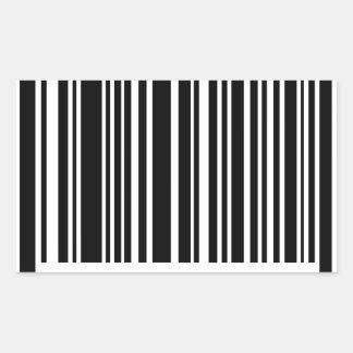 streepjescode rechthoek stickers
