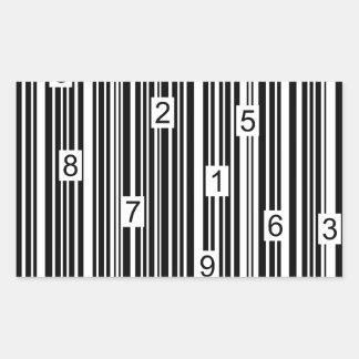 Streepjescode Rechthoekvormige Stickers