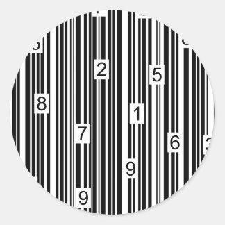 Streepjescode Ronde Sticker