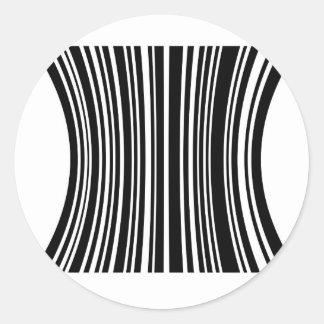 Streepjescode Ronde Stickers