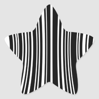Streepjescode Stervormige Sticker
