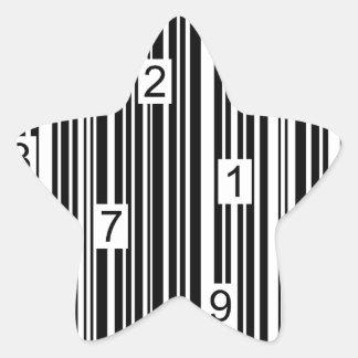 Streepjescode Stervormige Stickers