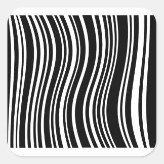 Streepjescode Vierkant Stickers