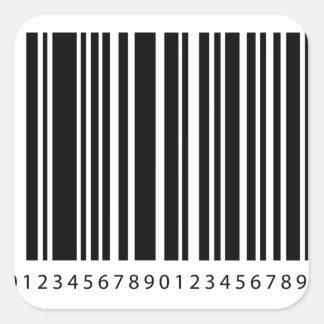 streepjescode vierkante sticker
