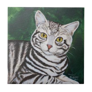 Strepen, de Kat van de Gestreepte kat Tegeltje