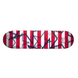 Strepen en Sterren Skateboard Deck