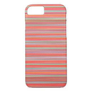 Strepen, horizontale de zomerkleuren iPhone 7 hoesje