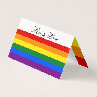 Strepen van de Trots van de Vlag van de Regenboog Kaartjes 0